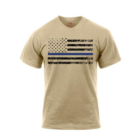 Desert Sand Thin Blue Line T Shirt - View