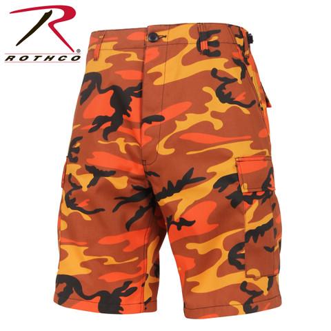 Savage Orange Camo Military BDU Shorts - Rothco View