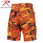 Savage Orange Camo Military BDU Shorts - Rothco View