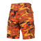 Savage Orange Camo Military BDU Shorts - View