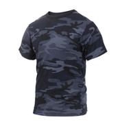 Midnight Blue Camo T Shirt - View