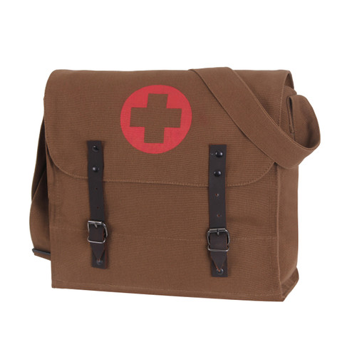 Brown Medics Bag w/Cross - View