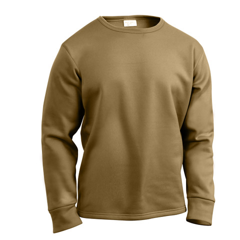 AR 670-1 Coyote Extreme Cold Weather Polypro Crew Shirt - View