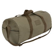 "Adventure 24"" Moss Green Canvas Duffle Bag - View"