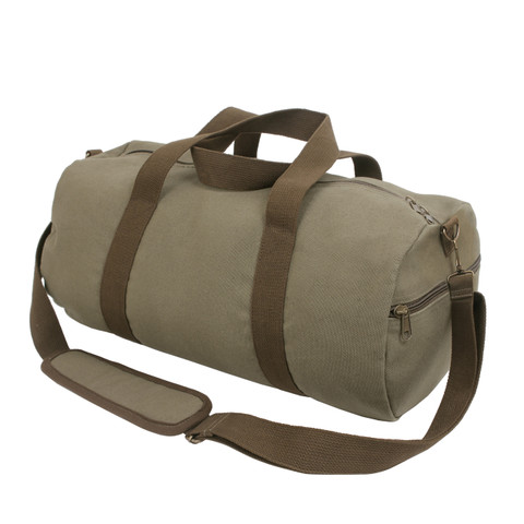 "Adventure 19"" Moss Green Canvas Duffle Bag - View"
