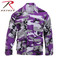 Purple Camo Color BDU Fatigue Shirt - Rothco Brand