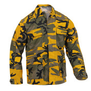 Stinger Yellow Camo Color BDU Fatigue Shirt - View