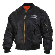 Rothco Thin Blue Line MA-1 Flight Jacket - Front View