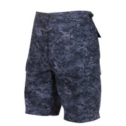 Midnight Digital Camo BDU Shorts - Side View