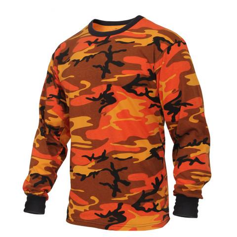 Savage Orange Camo Long Sleeve T Shirt - View