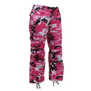 Womens Pink Camo Paratrooper Fatigues - View