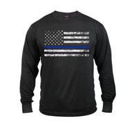 Rothco Thin Blue Line Long Sleeve T Shirt - View