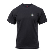 Thin Blue line Shield T Shirt - Front View