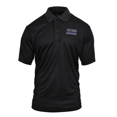 Thin Blue Line Moisture Wicking Polo Shirt - View