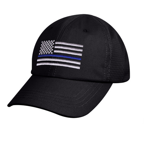 Tactical Mesh Back Cap w/Thin Blue Line Flag - View