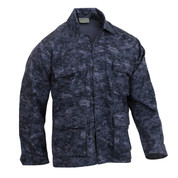 Midnight Digital Camo BDU Fatigue Jacket - View