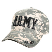 Deluxe ACU Digital Army Caps - Side View