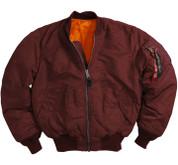 Alpha MA-1 Flight Jacket - Maroon