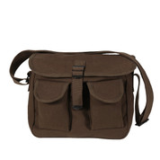 Earth Brown Canvas Ammo Shoulder Bag - View