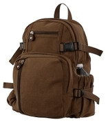 Vintage Canvas Compact Backpack - Front View