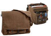 Vintage Brown Canvas Paratrooper Bag - Combo View