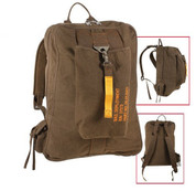 Vintage Brown Canvas Flight Daypack Bag