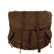 Vintage Earth Brown Canvas Metro Backpack