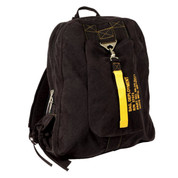 Vintage Black Canvas Flight Daypack - Angle View