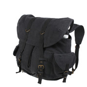 Vintage Black Canvas Metro Weekender Backpack - View