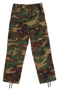 Relaxed Fit Zipper Camo BDU Fatigue Pants-View