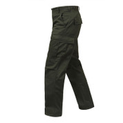 Rothco Olive Drab BDU Fatigue Pant - Left Side View