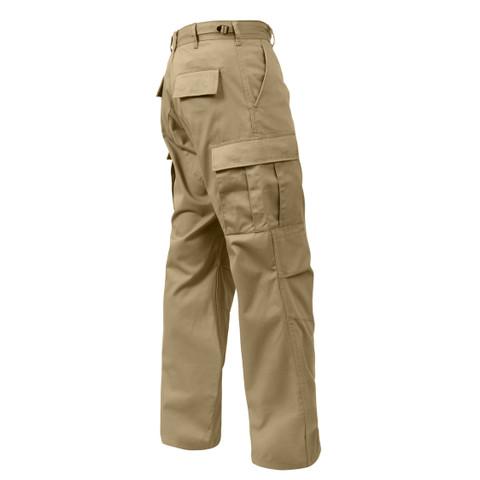 Rothco Khaki BDU Fatigue Pants - Right Side View