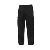 Rothco Black BDU Fatigue Pants - Front View