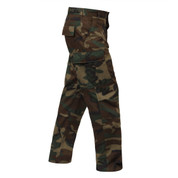 Woodland Camo BDU Fatigue Pants -  Right View