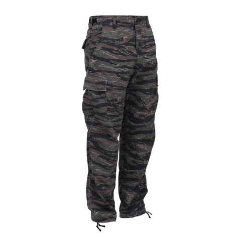 Tiger Stripe Camo BDU Fatigue Pants - Front View