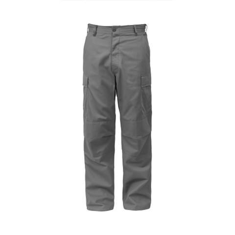 Rothco Grey BDU Fatigue Pants - Front View