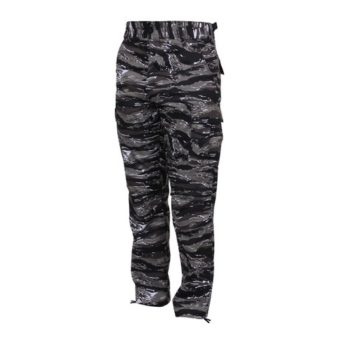 Urban Tiger Stripe Camo BDU Fatigue Pants - Front View