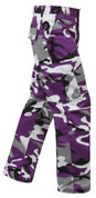 Purple Camo BDU Fatigues Pants - Right Side View