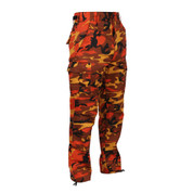 Savage Orange Camo BDU Fatigue Pants - Right Side View