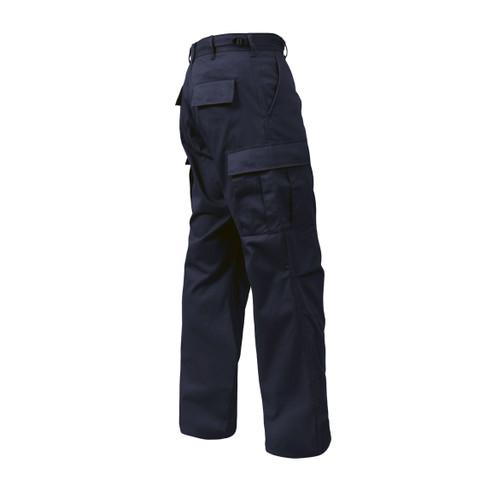 Navy Poly/Cotton Fatigue Pants - View