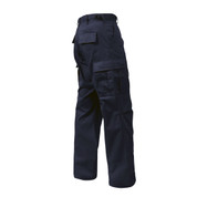 Navy Poly/Cotton Fatigue Pants - View