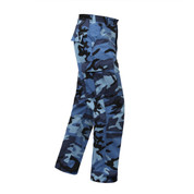 Sky Blue Camo BDU Fatigue Pants - Right Side View