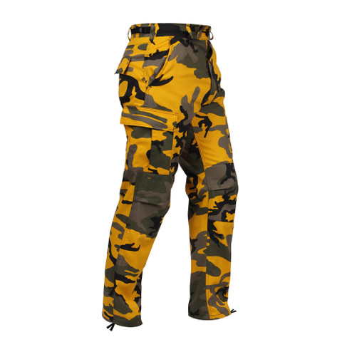 Rothco Stinger Yellow Camo BDU Fatigue Pants - Right Side View