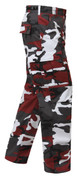 Red Camo BDU Fatigue Pants - Right Side View
