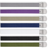 Military Web Belts - Silver Buckle Web Belt