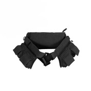 Travelers Canvas 7-Pocket Fanny Pack - Black