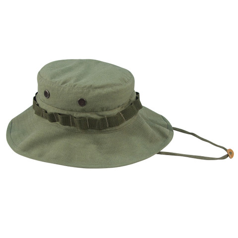 Vietnam Era Style Olive Drab Boonie Hat - View