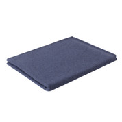 Navy Wool Camp Blanket - Angle View