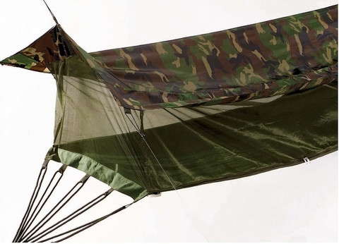 Medium image of     military camouflage jungle hammock  full hammock view