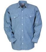 Big Bill Chambray Cotton Work Shirt - Long Sleeve
